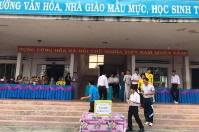 Lễ phát động ủng hộ đồng bào miền Trung bị thiên tai, lũ lụt của tập thể trường THCS Đinh Tiên Hoàng