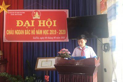 LIÊN ĐỘI TỔ CHỨC ĐẠI HỘI CHÁU NGOAN BÁC HỒ NĂM HỌC 2019-2020